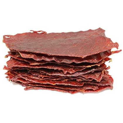 People'S Choice Beef Jerky - Classic - Teriyaki - Big Slab - Whole Muscle Premium Cuts - Bulk Jerky Package - Thin Sheets - Low Sodium Low Salt High Protein Meat Snack - 15 Count, 1 Bag