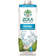 Zola 100% Natural Coconut Water, 1 Liter (Pack of 12)