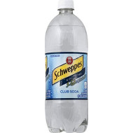 Schweppes Club Soda 1 Liter, 4 Pack