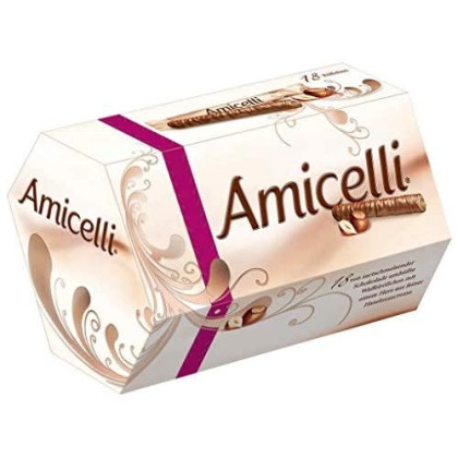 Amicelli Chocolate Covered Wafers with Hazelnut Filling