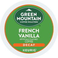 Green Mountain Coffee Roasters, Light Roast, Keurig Single-Serve K-Cup Pods, French Vanilla Decaf Coffee, 96 Count