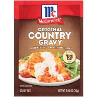 McCormick Original Country Gravy Mix, 2.64 oz (Pack of 6)