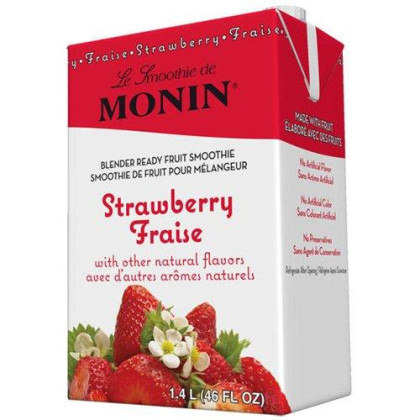 Monin Inc. Smoothie Mixes Monin Strawberry Fruit Smoothie Mix