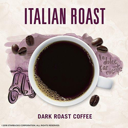 Starbucks Via Instant Italian Roast Dark Roast Coffee, 50 Count (Pack Of 1)