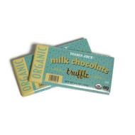 Trader Joe'S Organic Milk Chocolate Truffle Bar, 3.5 Oz. (Pack Of 2)