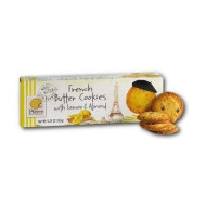 Pierre Biscuiterie French Butter Cookies With Lemon & Almond 5.29 Oz. Box (Pack Of 3)