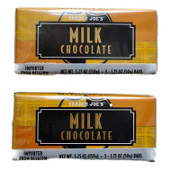 Trader Joe'S Belgian Milk Chocolate Bars, 1.75 Oz (2 Packs Of 3)