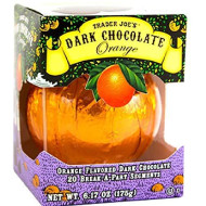 Trader Joe'S Seasonal All Natural Dark Chocolate Orange With 20 Break-Apart Segments / No Artificial Colors Or Flavors / No Preservatives