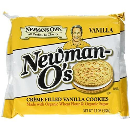 Newman'S Own Newman-O'S, Vanilla Creme Filled Vanilla Cookies, 13 Oz Packages (Pack Of 6)