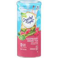Crystal Light Pure Raspberry Green Tea Drink Mix (60 Pitcher Packets, 12 Canisters Of 5)