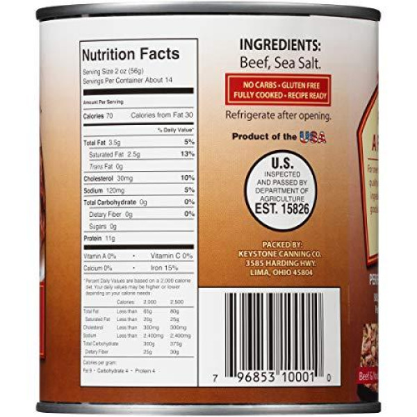 Best Canned Meat Keystone All Natural Beef Groceryeshop
