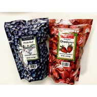 Trader Joe'S Freeze Dried Blueberries And Freeze Dried Strawberries, 1 Of Each, 2 Bags Total