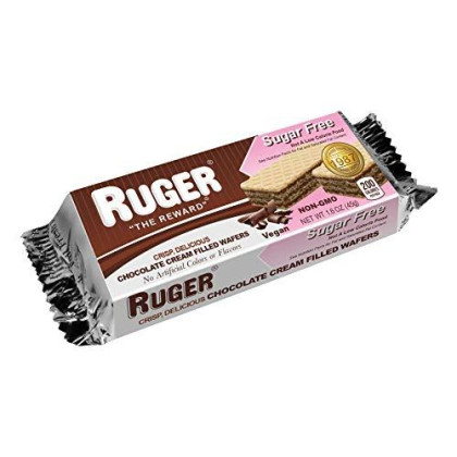 RUGER Sugar Free Chocolate Wafers (Pack of 12)