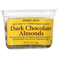 Trader Joe'S Sea Salt & Turbinado Sugar Dark Chocolate Almonds (Pack Of 2)