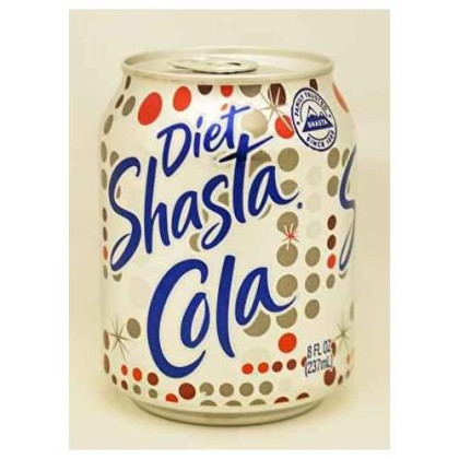 Shasta Diet Cola Soda, 8 ounce -- 48 per case.