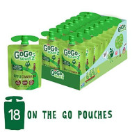 Gogo Squeez Applesauce On The Go, Apple Cinnamon, 3.2 Ounce (18 Pouches), Gluten Free, Vegan Friendly, Unsweetened Applesauce, Recloseable, Bpa Free Pouches (Package May Vary)
