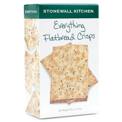 Stonewall Kitchen Flatbread Crisps, Everything, 4.9 Ounce