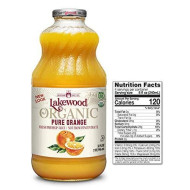 Lakewood Organic  Pure Orange, 32 Ounce (Pack Of 6)