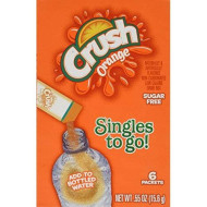 Lot Of 9 Boxes/54Packets-Orange Crush Sugar Free- Singles To Go!