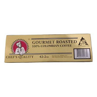 Chef's Quality Gourmet Roasted 100% Columbian Coffee - Ground - 42 2 Ounce Packets