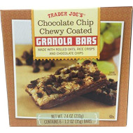 Trader Joe's Chocolate Chip Chewy Coated Granola Bars, 7.4 oz (210g), 1 Box