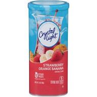 Crystal Light Strawberry Orange Banana Drink Mix (72 Pitcher Packets, 12 Canisters Of 6)
