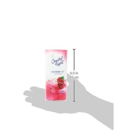 Crystal Light Raspberry Ice Drink Mix (72 Pitcher Packets, 12 Canisters Of 6)