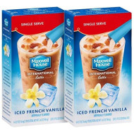 Maxwell House International Cafe Iced Latte French Vanilla - 12 Packets - 2 Boxes of 6