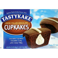Tastykake Chocolate Cream Filled Iced Cupcakes, 14.25 Oz Family Pack (Pack Of 3)