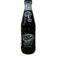 Original Dr. Pepper Made With Imperial Cane Sugar 2 - 6 Packs (12 - 8 Oz. Glass Bottles) (Not Dublin)