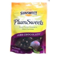 Sunsweet, Plums Sweets, Dark Chocolate Covered Prunes, 6Oz Bag (Pack Of 3)