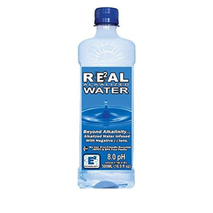 Real Water Alkalized Water, 16.9 Fluid Ounce (Pack Of 24)