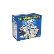 Kellogg'S, Pop-Tarts, Frosted Cookies & Creme Toaster Pastries, Value Size, 16 Count, 28.2 Oz Box (Pack Of 2)