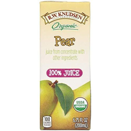 R.W. Knudsen Organic Juice Boxes - Pear - 6.75 Oz - 4 Ct - 7 Pk