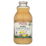 Lakewood Pure Organic Lemon Juice, (Not From Concentrate), Buy Twelve Bottles And Save More, Each Glass Bottle Is 32 Ounces (Pack Of 12)
