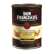 Don Francisco'S, Butterscotch Toffee Ground Coffee, 12Oz Can (Pack Of 2)