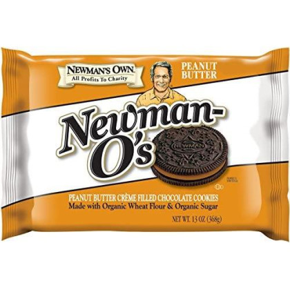 Newman'S Own Newman-O'S Sandwich Cremes, Peanut Butter, 13-Oz. (Pack Of 6)