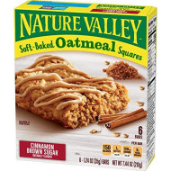 Nat Val Soft Baked Squares 6 Piece Cinnamon Brown Sugar Soft-Baked Oatmeal Squares, 7.44 Oz