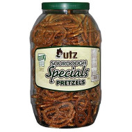 Utz Sourdough Specials Pretzels - Classic Sourdough Pretzel, Perfectly Salted Crunchy Sourdough Pretzel With Zero Cholesterol Per Serving, 28 Oz. Barrel