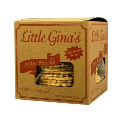 Little Gina's - Anise Pizzelle, (2)- 9 oz. Boxes