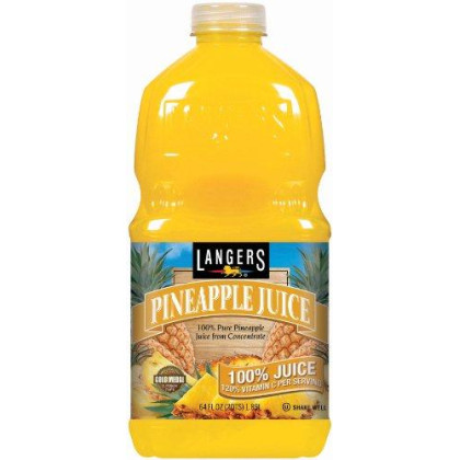 Langers 100% Juice with Vitamin C, Pineapple, 64 Fl Oz, Pack of 8