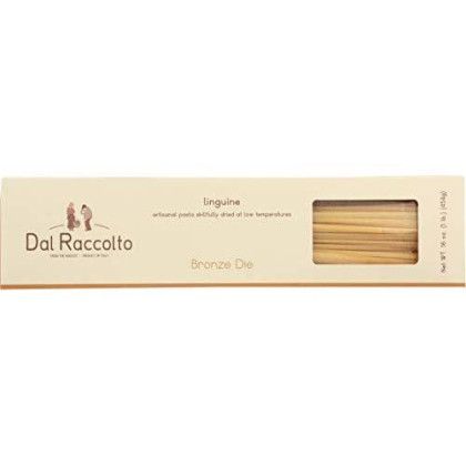Dal Raccolto Bronze Die Cut Pasta, Linguine, 1 Pound, (Pack Of 12)