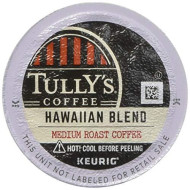 Tully'S Hawaiian Blend Extra Bold Coffee Keurig K-Cups, 24 Count