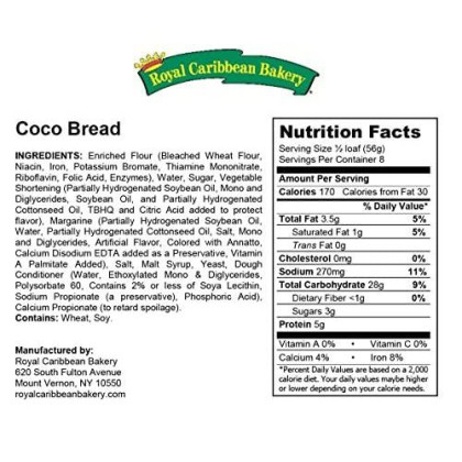 Jamaican Style Coco Bread, 16 Oz. (1 Pack)