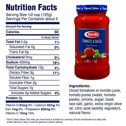 BARILLA Tomato & Basil and Traditional Premium Pasta Sauce Variety Pack, 24 Ounce Jars (Pack of 4)   No Artificial Colors, Flavors or Preservatives   Non-GMO Project Verified