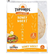 Tumaro's 8 Inch Carb Wise Wraps - Honey Wheat - Case of 6 - 8 Count