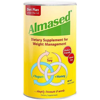 Almased Meal Replacement Shake - Plant Based Protein Powder For Weight Loss - Gluten-Free, Non-Gmo 17.6 Oz (3 Pack)