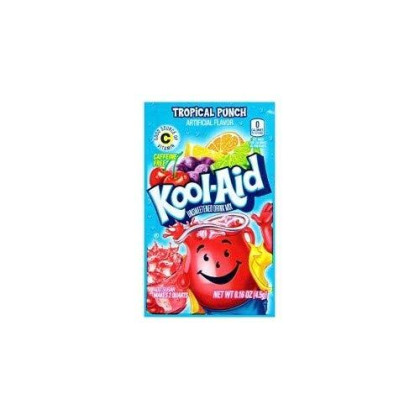 Kool-Aid Kool-Aid Tropical Punch Flavor Unsweetened Soft Drink Mix, 0.16 Oz (Pack Of 192)
