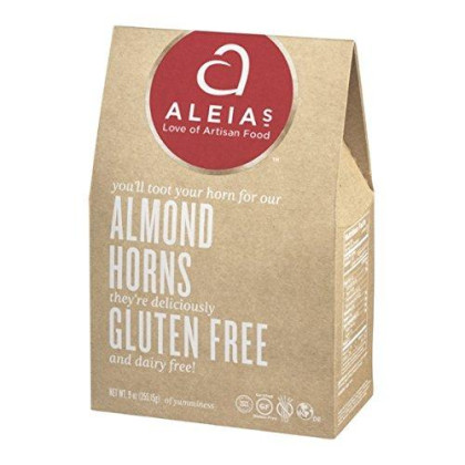 Aleia'S Gluten Free Almond Horn Cookies 9Oz (Pack Of 2)