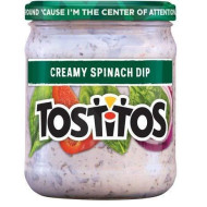 Tostitos, Creamy Spinach Dip, 15Oz Glass Jar (Pack Of 3)